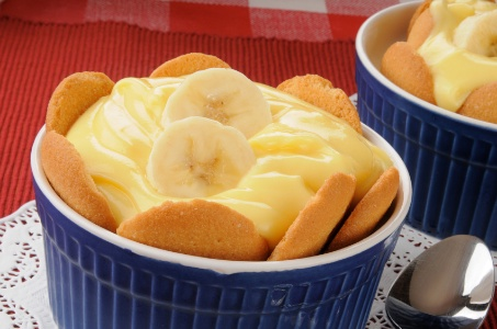 bowl of banana pudding