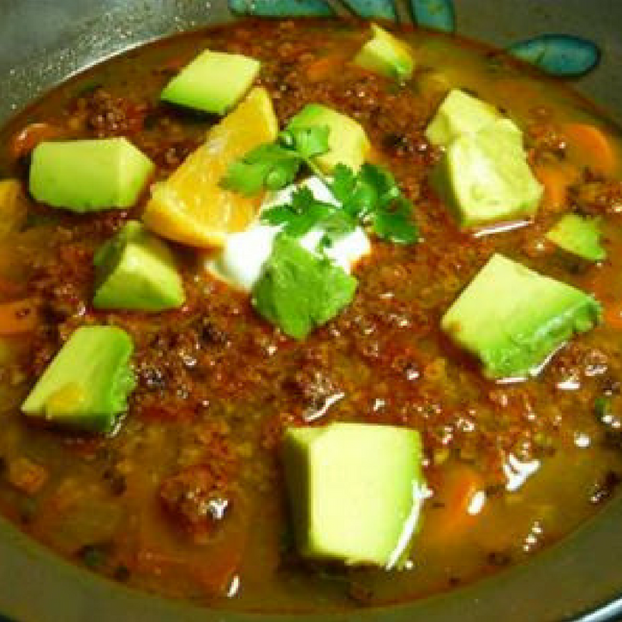 South West Soyrizo Potato Soup