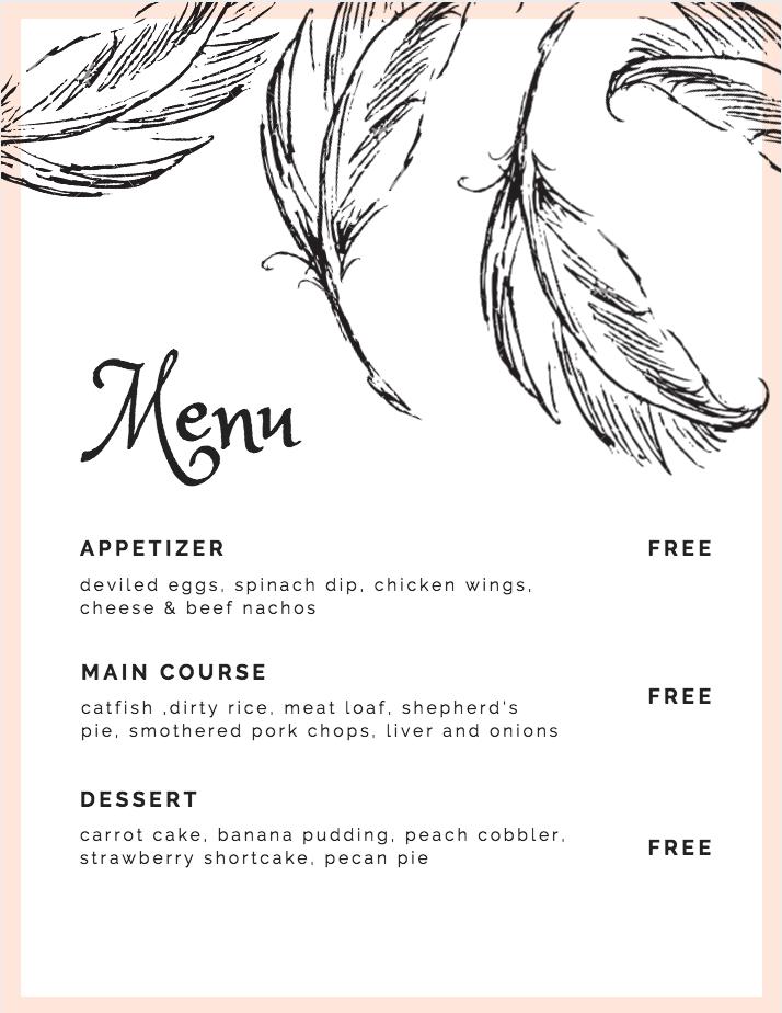 soul food menu