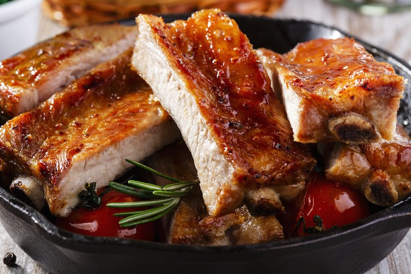 baked barbecue pork ribs
