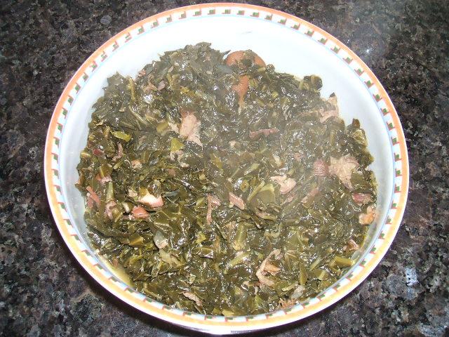 bowl of collard greens