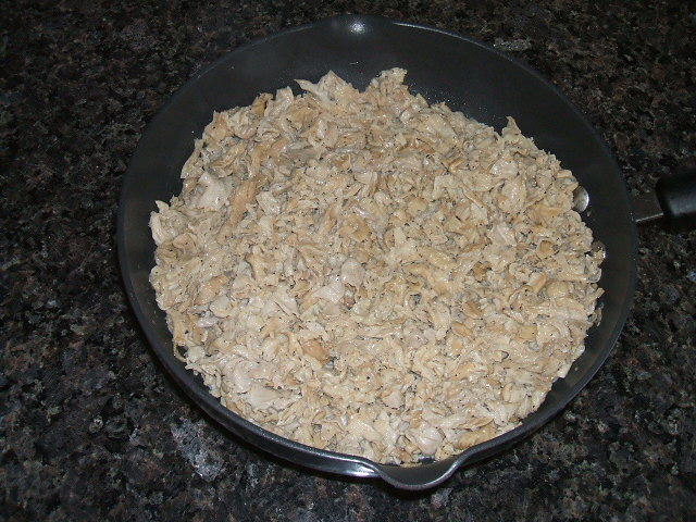 chitterlings in a skillet
