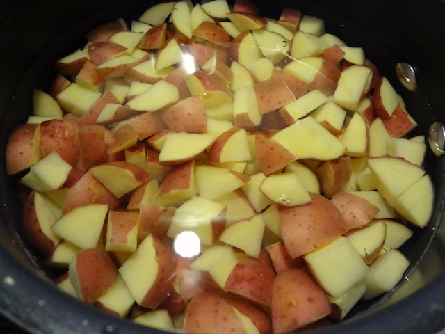 Diced Potatoes Before Boiling