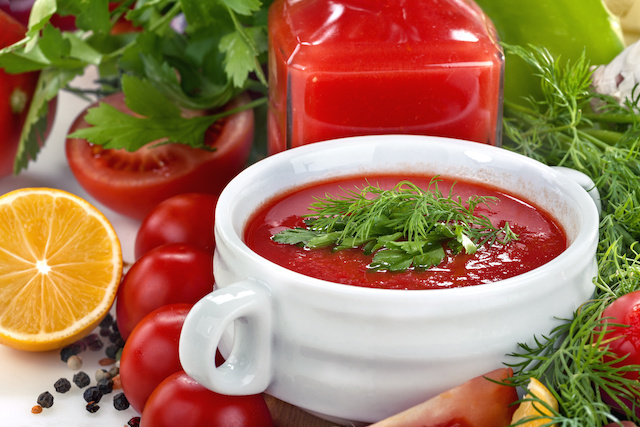 Homemade Tomato Soup With Herbs and Spices