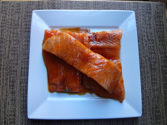 Marinated and Seasoned Salmon