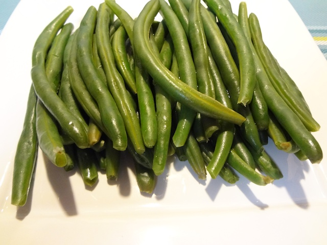 Plate of Steamed Green Beans