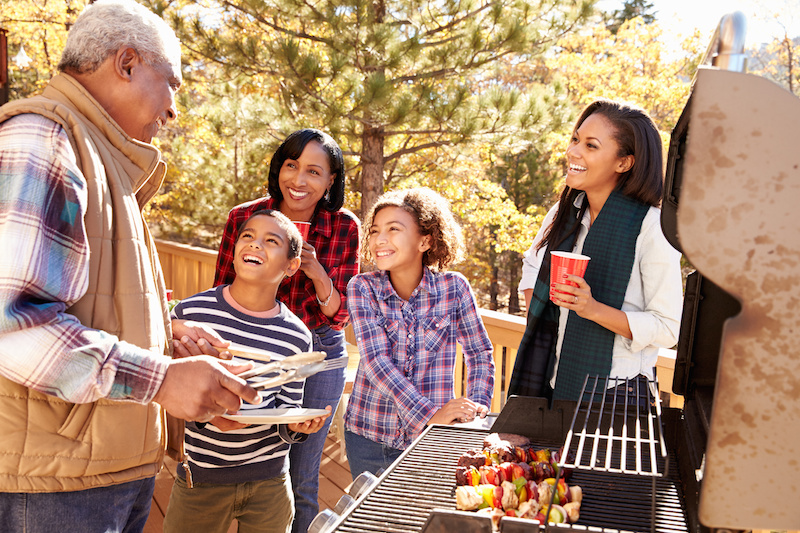 summer cookout and outdoor barbecue