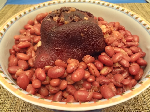 red beans and ham hock