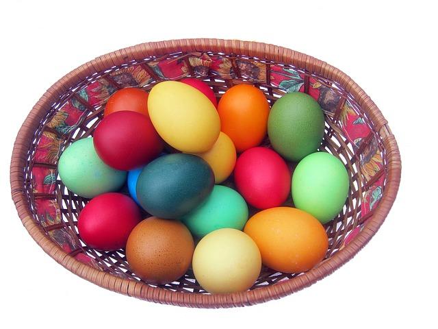 Colorful Easter Egg Basket
