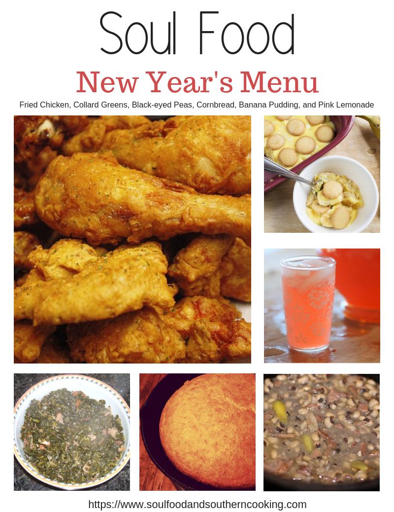 New Year's Soul Food Menu
